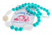 Soothing Bites Velve - Silicone Bead Teething Necklace For Mom - BPA Free Food Grade Silicone To Soothe Baby Gum Pain