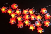 1 Set Handmade Lighting String 20 Nemo Fish Lights Hanging Lamp Mixed Colours Home Decoration, Patio, Living Room, Kid Toys, Yard & Garden Indoor Outdoor, Birthday, Christmas, Wedding, New Year, Anniversary, Ceremony, Valentine Party