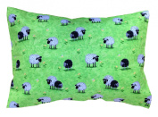 "100% Cotton Toddler Pillowcase in GRAZING SHEEP by ""A Little Pillow Company"""
