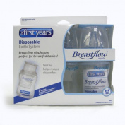 3 X 120ml Breastflow Disposable Bottles NEW BPA Free