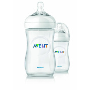 2 X 270ml Avent Natural Plastic (Pp) Bottles, New, BPA Free