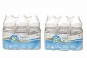 6 New Evenflo Glass Baby Bottles 120ml, BPA Free