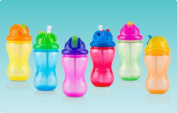1 NEW Nuby Sippy Cup No Spill Mega Straw Cup Flip-it Cup 350ml