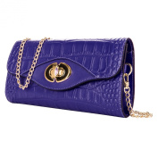 Womens Genuine Leather Cassie Wallet Clutch with Removable Shoulder Chain Strap