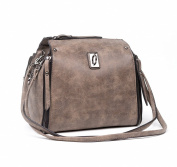 Mn & Sue Punk Girl Style Dual Use School Backpack Cross Body Drawstring Bucket Handbag Purse