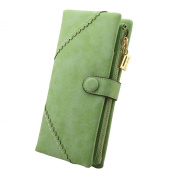 FUNOC New Women Fashion Leather Wallet Button Clutch Purse Lady Long Handbag Bag