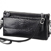 Staringirl Soft Genuine Leather Crocodile Clutch Organiser Purse Shoulder Crossbody Wrislet Bag