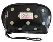 BDJ Polka-dots Oilcloth Cosmetic Purse Wallet Wristlet Clutch Handbag