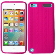 Hot Pink Tire Tread Silicon Soft Rubber Skin Case Cover For Apple iPod Touch iTouch 5