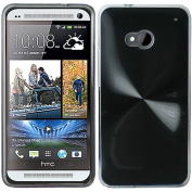 Black Hard Case Cover For HTC One M7