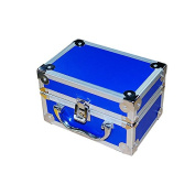 icarekit (TM) Aluminium Box for Dental Surgical Medical Binocular Loupes Dentist Loupe Box Blue