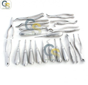 G.S 20 ASSORTED DENTAL EXTRACTING FORCEPS AND ELEVATOR MIX