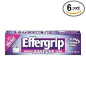 Effergrip Denture Adhensive Cream, Extra Holding Power, 70ml (Pack of 6) by Effergrip