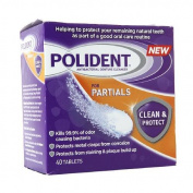 POLIDENT Clean & Protect Antibacterial Denture Cleanser For Partials 40 Ea