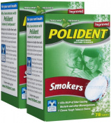 Polident Antibacterial Denture Cleanser for Smokers - 84 ct - 2 pk