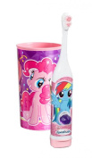"Arm & Hammer Kid's Spinbrush ""My Little Pony"" Turbo Powered Toothbrush Plus Bonus My Little Pony Pink Mouth Wash Rinse Cup!"