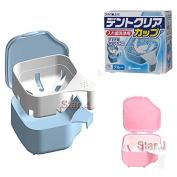 2pcs Dental Denture Box Retainer Orthodontic Dental Case Tray & Rinsing Basket