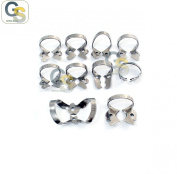 G.S 20 PCS ENDODONTIC RUBBER DAM CLAMP MIX NUMBERS