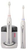 GNC UV Sonic Ultra White Rechargeable Toothbrush Twin Pack