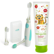 Summer Infant Gentle Vibrations Toothbrush with Fluoride Free Toothpaste, Strawberry, 120ml Tube