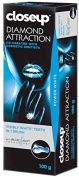 Closeup diamond attraction , whittening toothpaste with blue light technology 100g (100ml) per tube