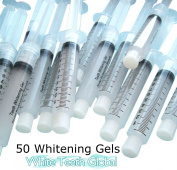 50 10cc Syringes of 22% TOP Quality Tooth Whitening Gel for Whitener Teeth. Mouth trays not included.