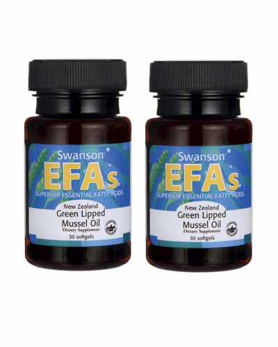 New Zealand Green Lipped Mussel Oil, 30 Sgels, 2 Bottles