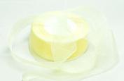 Organza Ribbon - 3.8cm Wide - 50 Yard Spool - - Light Yellow