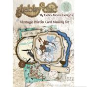 Debbi Moore Designs DMNC002 Shabby Chic Card Making Kit, Vintage Birds