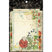 Graphic 45 Time to Flourish Ephemera Cards for Scrapbooking