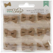American Crafts 9-Piece DIY Shop Burlap Bows, Dark