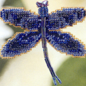 Rainbow Dragonfly Beaded Counted Cross Stitch Ornament Kit Mill Hill 2000 Spring Bouquet MHDF4