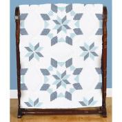 Jack Dempsey Stamped White Quilt Blocks, 46cm by 46cm , Interlocking XX Western Star, 6-Pack