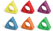 Kikkerland Triangle Crayon Rings, Set of 6
