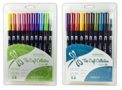 Tombow Dual Brush Pen Set, 20-Pack, Jelly Bean and Groovy Colours