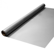 Party Essentials Heavy Duty Plastic Banquet Table Roll Available in 27 Colours, 100cm x 46m, Metallic Silver