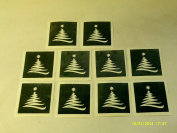 30 x Christmas Tree stencils for etching on glass craft hobby glassware present gift