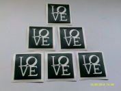 10 x Love word stencils for etching on glass glassware gift present