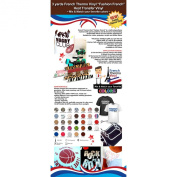 """3 yards French Thermo Vinyl """"Fashion French"""" Heat Transfer Vinyl (Mix & Match your favourite colours) ."""