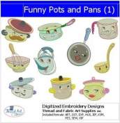 Machine Embroidery Designs - Funny Pots and Pans
