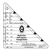 Multi-Size Half Square Triangle Ruler
