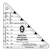 Multi-Size Half Square Triangle Ruler