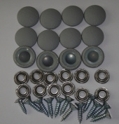 Set Of 12 Dura Snap Upholstery Buttons #30 Medium Grey Vinyl