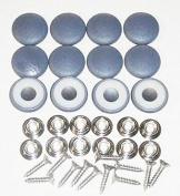 Set Of 12 Dura Snap Upholstery Buttons #36 Mariner Blue Vinyl