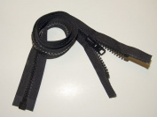 Zipper, 120cm Inch, YKK, Black, #10, Seperating Zipper, Double Metal Slider, Boat Canvas