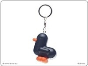 Canar 5cm duck keychain RACER Series - Colour Matt Black/White stripes