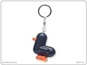 Canar 5cm duck keychain RACER Series - Colour Matt Black/White stripes