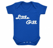 Cute Little Gill Design Baby Bodysuit Royal Blue with White Print