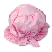 Fashion Lovely Pink Lace Bowknot Summer Unisex Children's Baby Sun Hat Cap Sweet