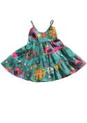 Tiered Cotton Dress in Florals Print